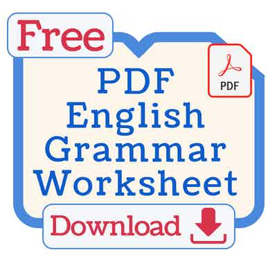 Free English Grammar Worksheet