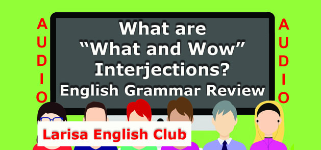 """What are """"What and Wow"""" Interjections Audio"""