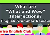 """What are """"What and Wow"""" Interjections PDF"""