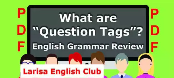 What are Question Tags PDF