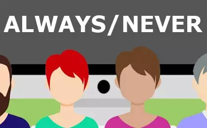 Adverbs 'Always and Never' American English