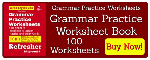 Grammar Practice Worksheets Book are available to purchase from Amazon website. Study English language grammar now!