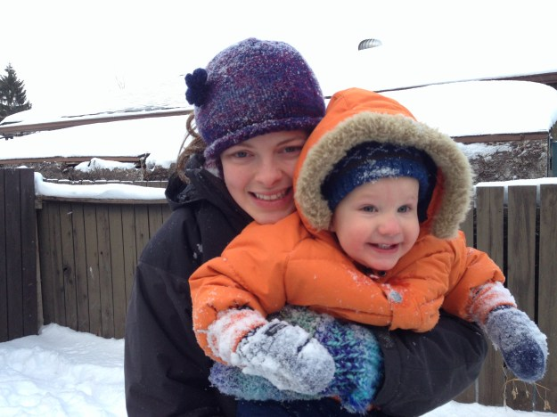 Auntie Catherine loves the snow just as much as Calvin!