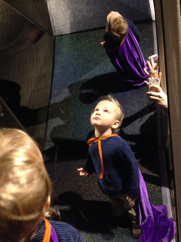 One exhibit had little capes for the kids to wear around. It was cute.