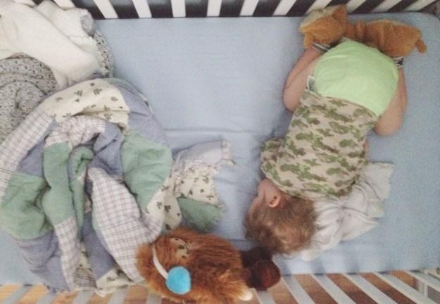 I love that Calvin still sleeps like this.