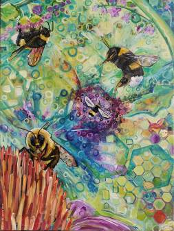 Bee Spirit Animal Visionary Soul Path Art - Larissa Davis is The ...