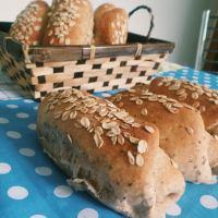 Mini Pão integral de aveia e chia