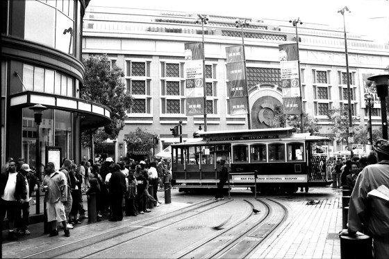 Turning the cable car in, San Francisco, CA, 2005