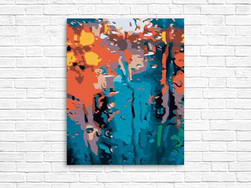 abstract print on metal