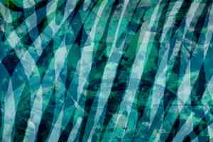 abstract composition in blues and blue green