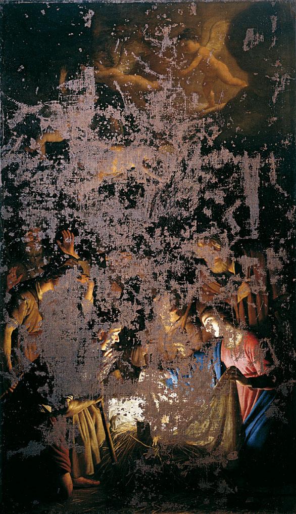 Gherardo delle Notti, Adorazione dei pastori (dopo la bomba), uffizi, natali, firenze, mostre, musei