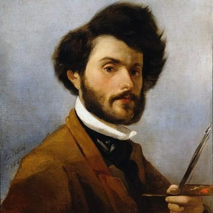 Giovanni Fattori, Autoritratto, 1854, Olio su tela, cm. 60x47,3, Firenze, Galleria d'arte moderna di Palazzo Pitti