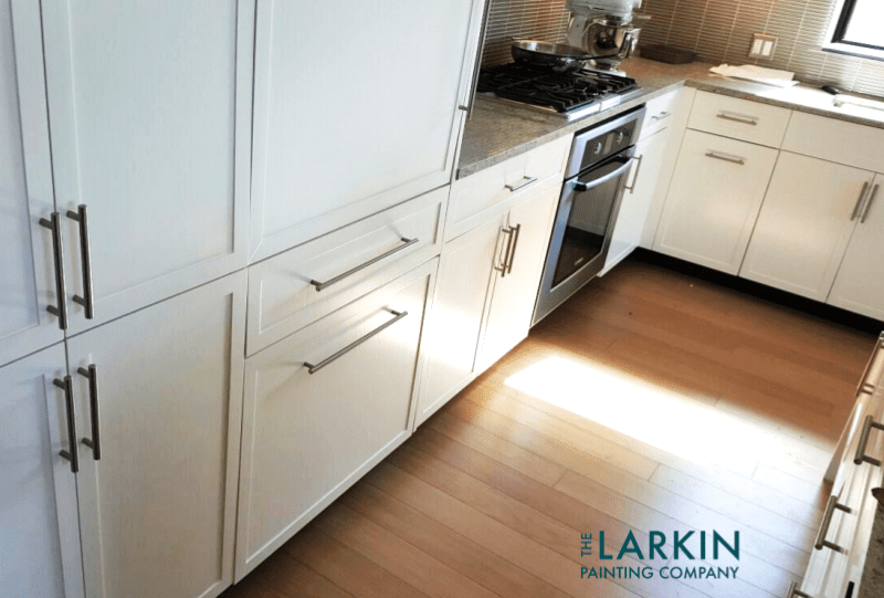 Sprayed Kitchen Cabinets Millennium Towers Boston The LARKIN