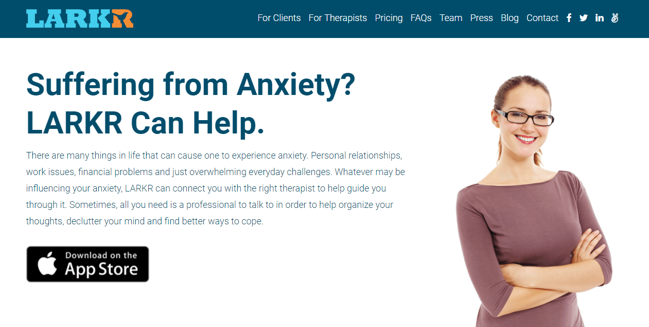 Anxiety - Larkr: On-Demand Mental Health Care