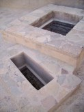 Potholes in Nizwa Fort [Omani soldiers would pour hot oil through these holes to hold off the ascending enemy below]