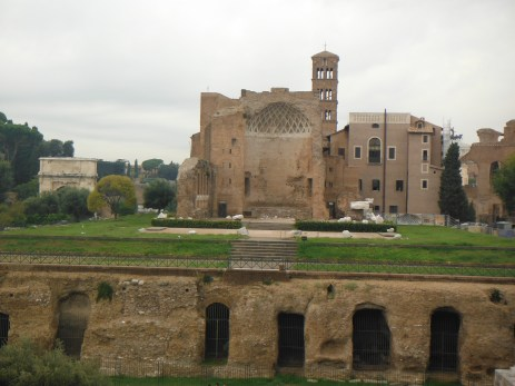 Located east of the Colosseum. Used to be housing quarters for the gladiators.