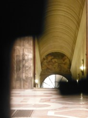 A rare glimpse inside the Pope's private chambers (taken through the key hole)