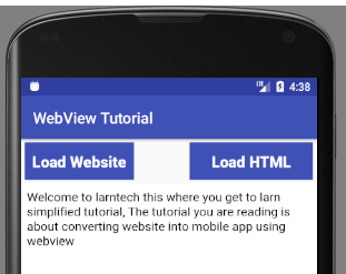 Converting Website to Android App  using WebView