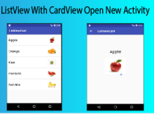custom listview with cardview image text and open new activity when items are clicked