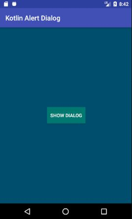 Android Kotlin Alert Dialog Example