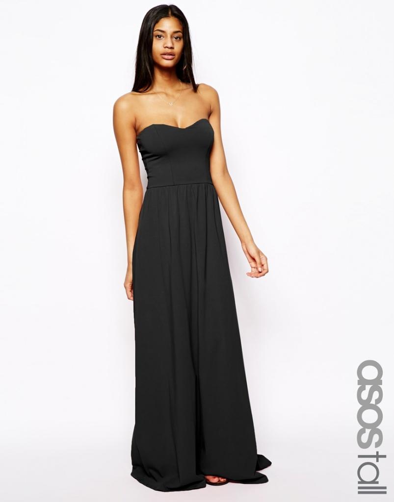 Robe Bustier Longue Noire Pour Ete La Robe Longue