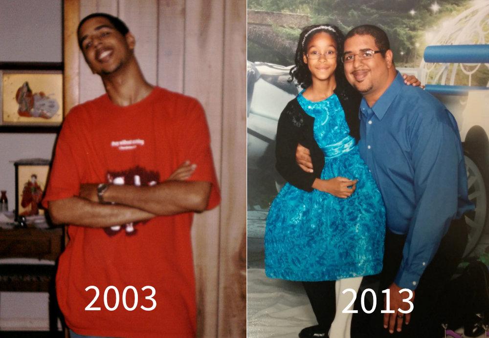 LaRosa in 2003 & 2013 side-by-side