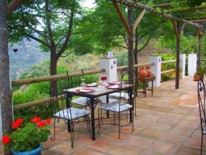 Patio dining at La Rosilla.