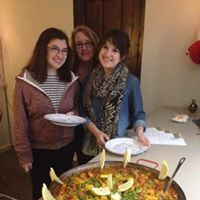 Mum and daughters paella.
