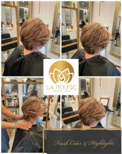 Ladies Cut, Color and Highlight