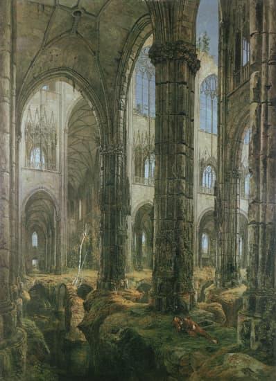 Encyclopdie Larousse en ligne  Karl Blechen glise gothique en ruine