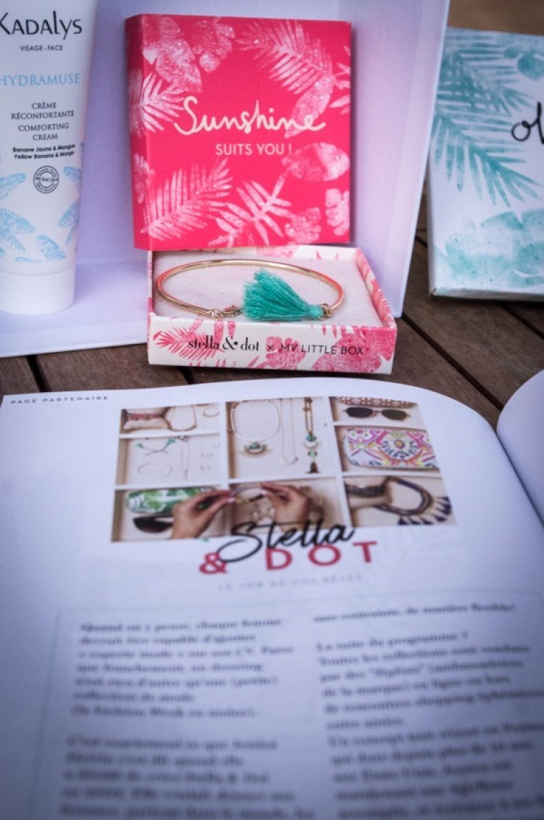 mylittlebox en collaboration avec stella and dot