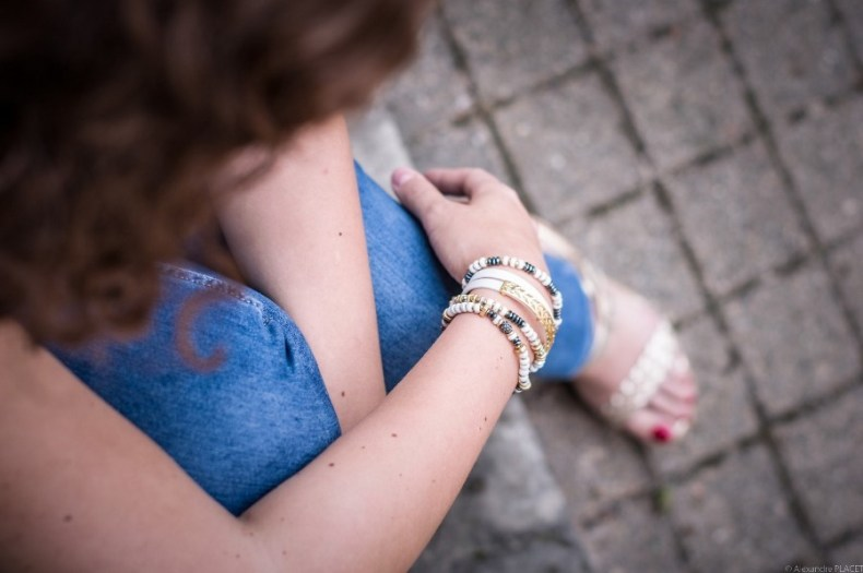 look casual chic - total look bleu - blog mode lyon