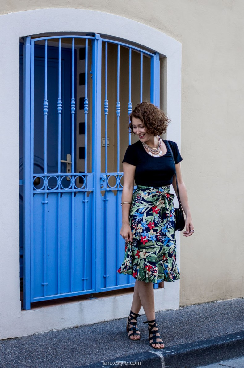Look Motif tropical- blog mode lyon - jupe coloree-9