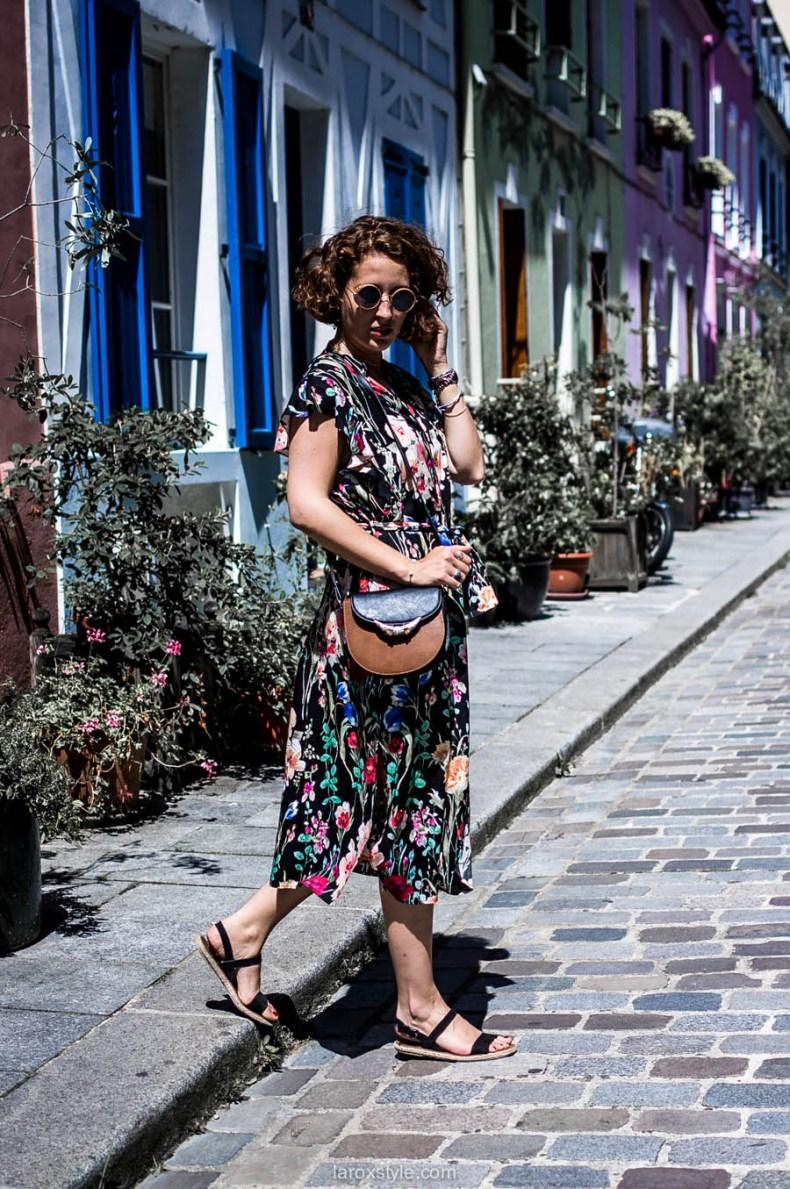 Paris - rue cremieux - robe longue fleurie - laroxstyle - blog mode lyon-22