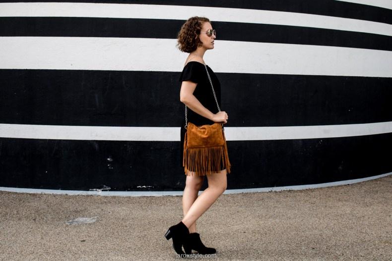 look robe noire - robe boho - blog mode lyon