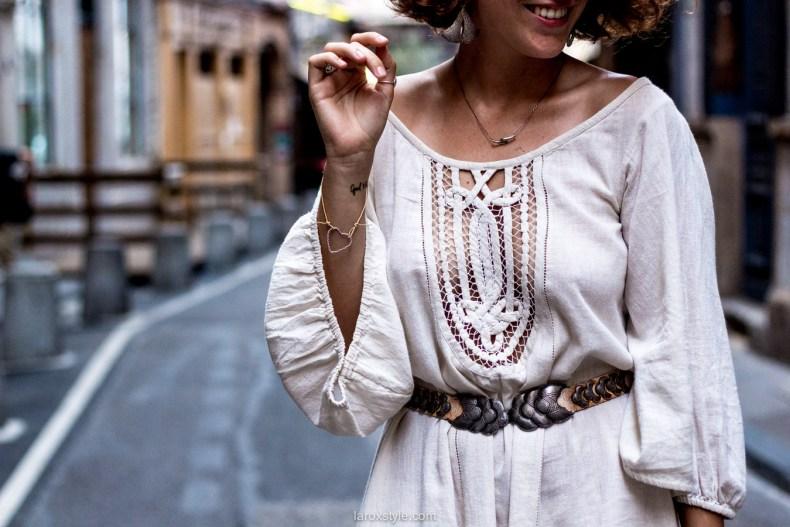 robe boho - robe blanche ajouree - blog mode lyon