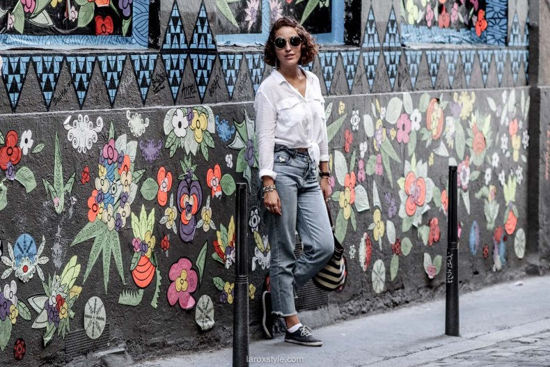 chemise blanche nouee - laroxstyle - blog mode lyon