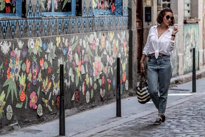 comment porter le mom jean - laroxstyle - blog mode lyon