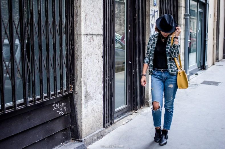 bristish style - veste tartan- laroxstyle blog mode lyon