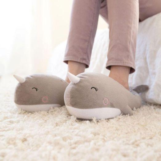 1 idee cadeau - femme cocooning - chaussons chauffants