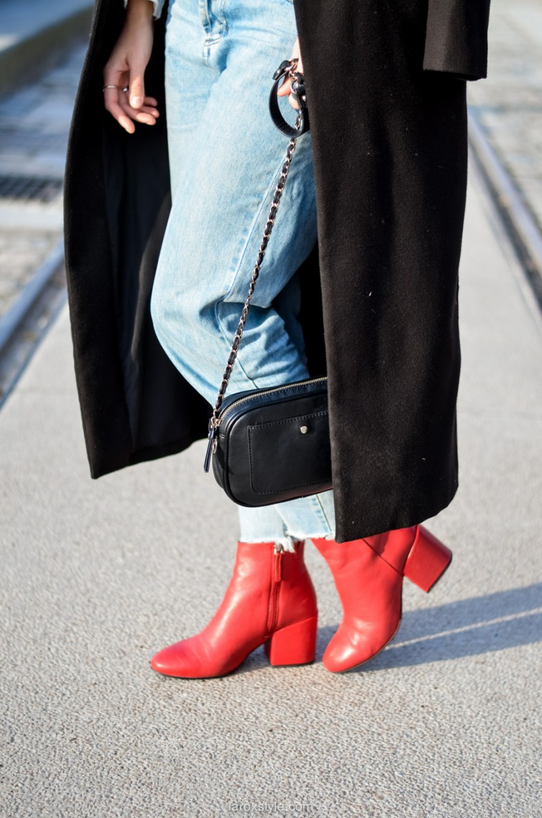 look casual rock - tendance red shoes - mom jean - blog mode lyon-14