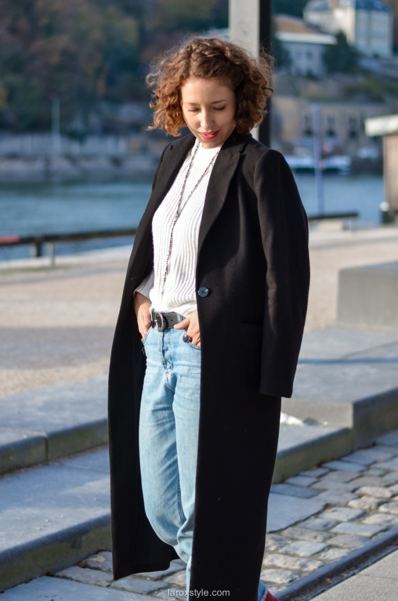 look casual rock - tendance red shoes - mom jean - blog mode lyon-6