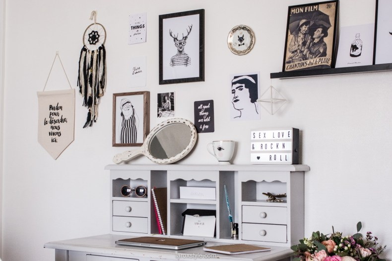 deco bureau a la maison - inspiration decoration boheme chic - laroxstyle blog lifestyle-1