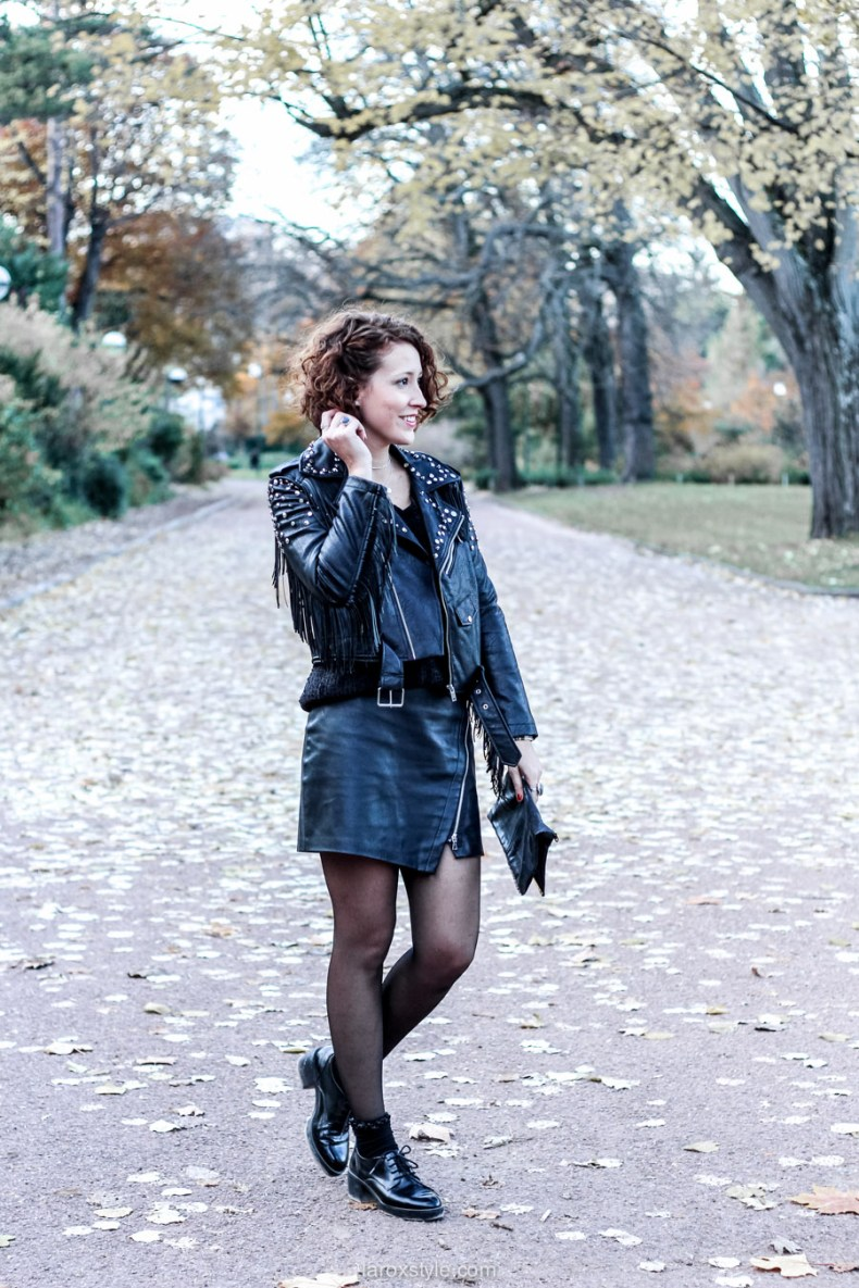 look rock - total look cuir - blog mode lyon - laroxstyle-3