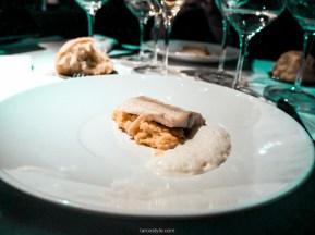 Plat poisson et lentilles de corail rouge - Wagon Bar - Restaurant bus lyon