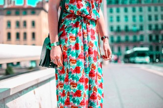 look festival - robe longue fleurie - stan smith - nuits sonores day 1 -9