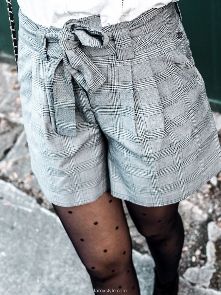 look blog mode short prince de galles DDP - 1 tenue 4 looks
