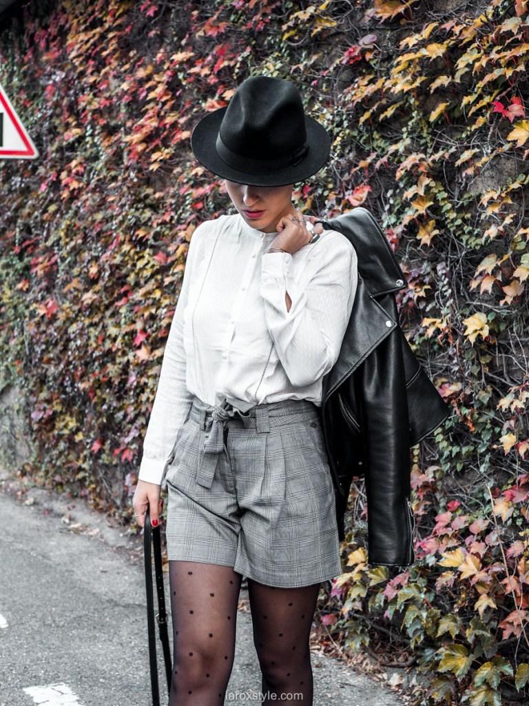 look blog mode short prince de galles DDP - 1 tenue 4 looks