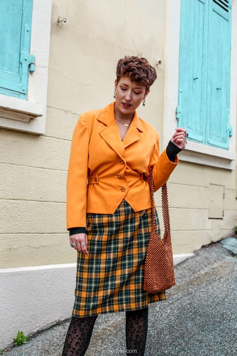 comment oser un look vintage orange pour l automne - chez biche-12