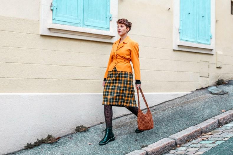comment oser un look vintage orange pour l automne - chez biche-15